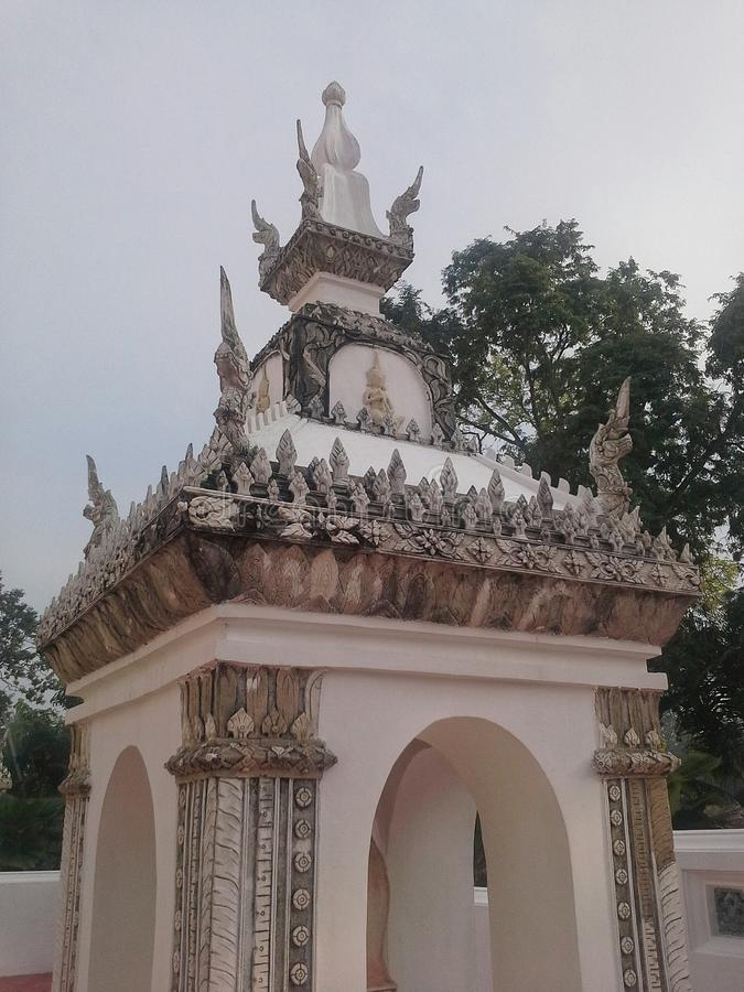 Λεπτομέρεια του pavillion του ταϊλανδικού ναού, Songkhla στοκ φωτογραφία με δικαίωμα ελεύθερης χρήσης