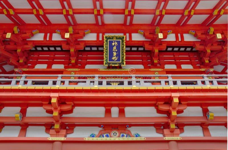 Λεπτομέρεια των λαρνάκων Inari Fushimi στοκ φωτογραφίες