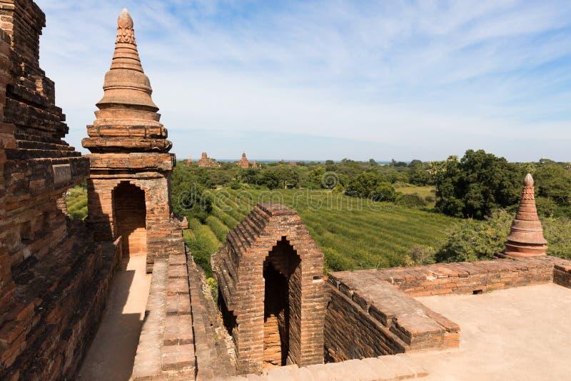 Λεπτομέρεια των αρχαίων ναών σε Bagan, το Μιανμάρ (Βιρμανία στοκ φωτογραφία