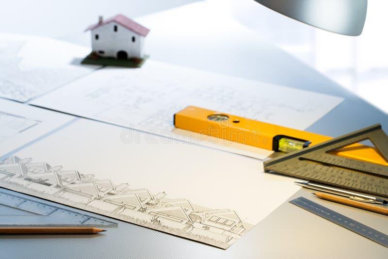 Λεπτομέρεια των αρχιτεκτονικών εγγράφων στοκ φωτογραφίες