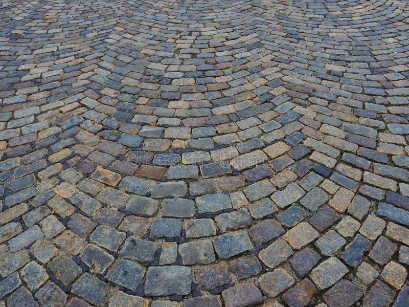 Λεπτομέρεια των ευρωπαϊκών φυσικών Cobble πετρών στοκ φωτογραφίες