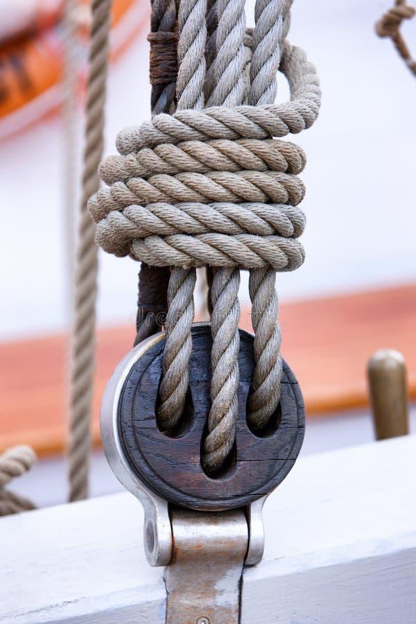 Λεπτομέρεια των ξαρτιών sailboat στοκ φωτογραφίες με δικαίωμα ελεύθερης χρήσης