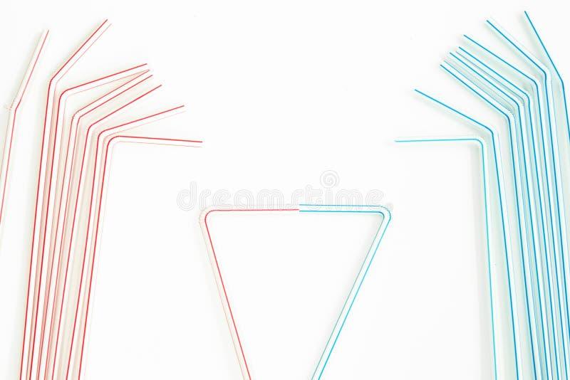 Λεπτομέρεια δύο ομάδων αχύρων κατανάλωσης που ενώνονται στοκ εικόνα με δικαίωμα ελεύθερης χρήσης