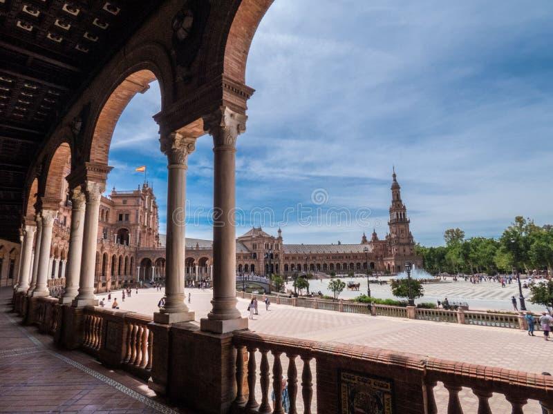 Λεπτομέρεια Beautiful Plaza de Espana, Σεβίλη, Ισπανία στοκ φωτογραφίες