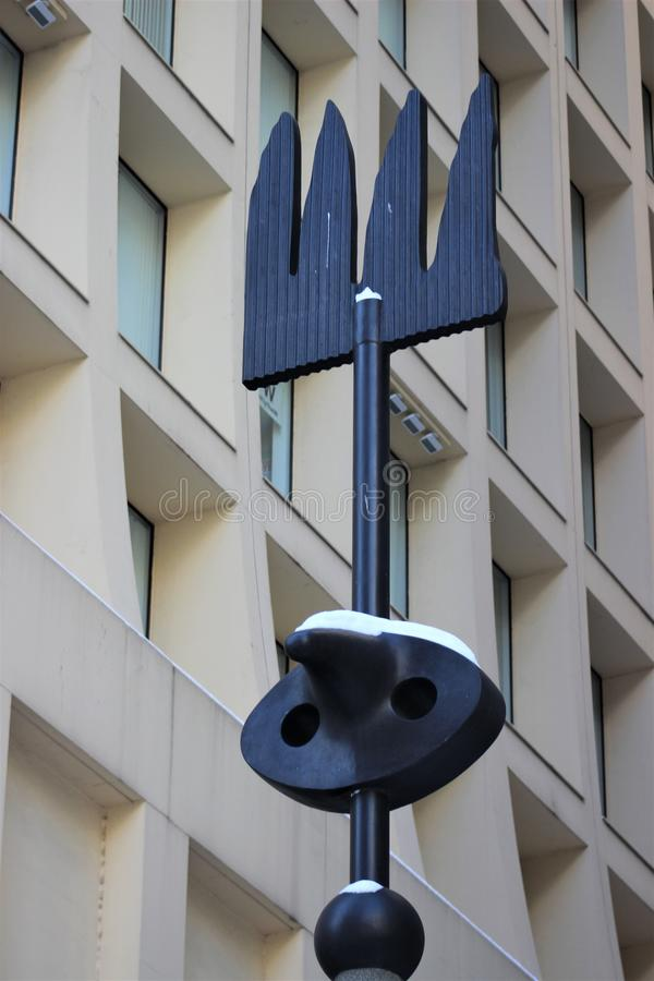 Λεπτομέρεια Miro ` s Σικάγο στοκ εικόνα με δικαίωμα ελεύθερης χρήσης