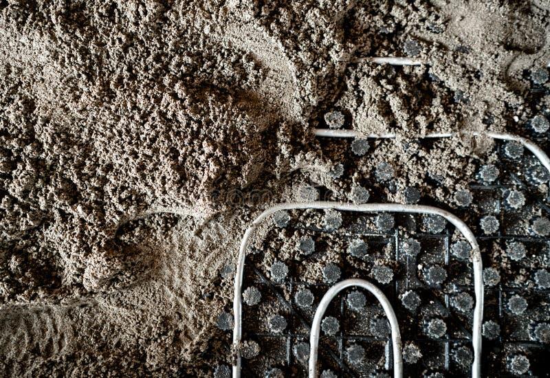 Λεπτομέρειες δαπέδων Λεπτομέρειες τσιμέντου και άμμου του κατεβατού στοκ εικόνες