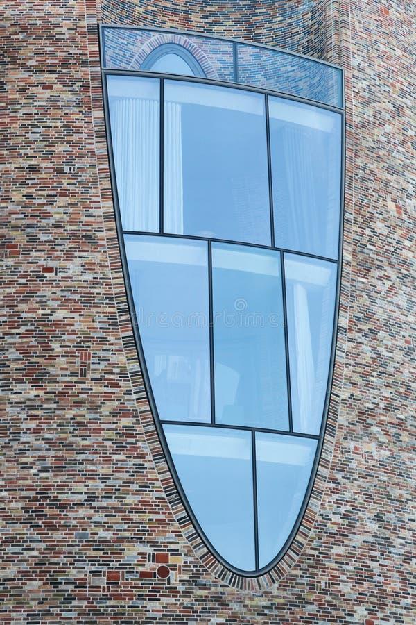 Λεπτομέρειες και παράθυρο του Fjordenhus Vejle, Δανία στοκ εικόνα