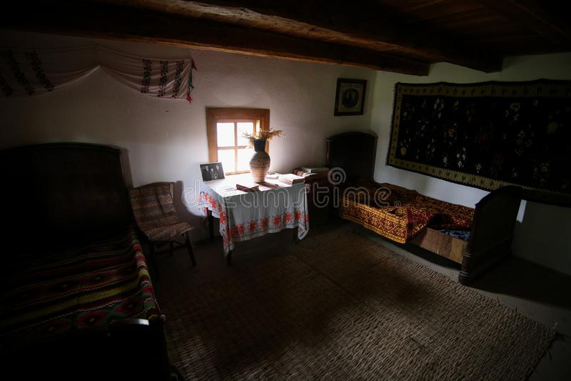 Λεπτομέρειες με το σπίτι στο οποίο Nicolae Ceausescu, ρουμανικός κομμουνιστικός δικτάτορας, γεννήθηκε το 1918 στοκ εικόνες