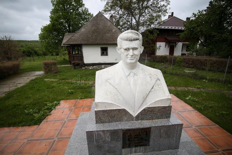 Λεπτομέρειες με το σπίτι στο οποίο Nicolae Ceausescu, ρουμανικός κομμουνιστικός δικτάτορας, γεννήθηκε το 1918 στοκ εικόνες με δικαίωμα ελεύθερης χρήσης