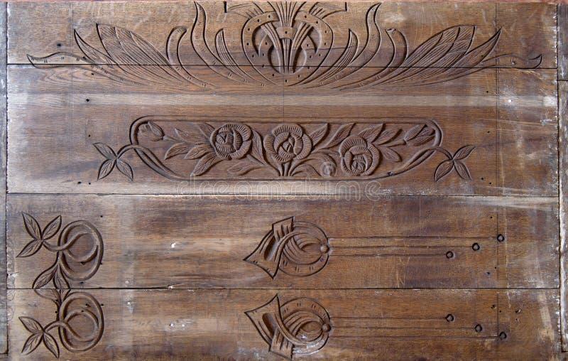 Λεπτομέρειες μιας λεπτής ξύλινης τέχνης χάραξης στοκ φωτογραφίες με δικαίωμα ελεύθερης χρήσης