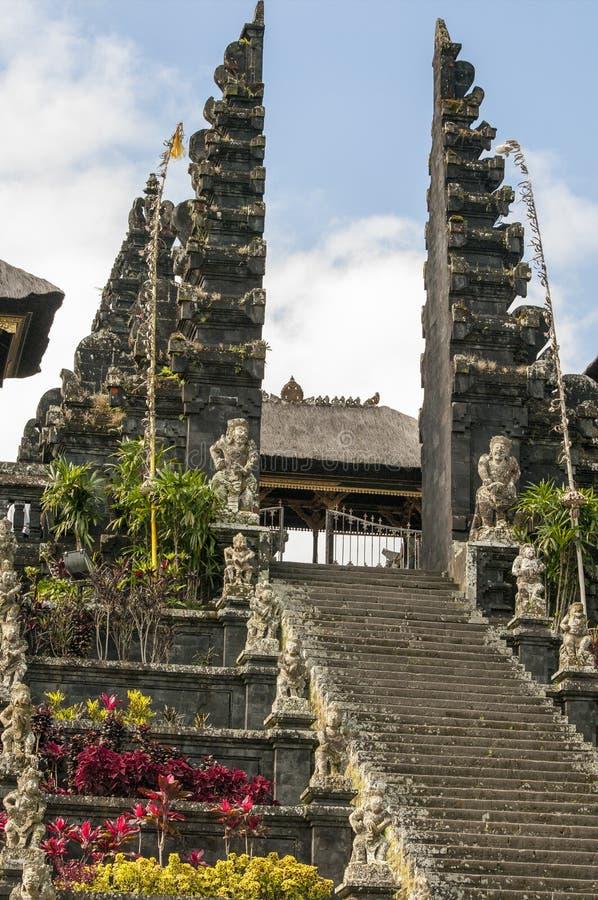 Λεπτομέρειες ναών Hinduist στο Μπαλί Ινδονησία στοκ εικόνα με δικαίωμα ελεύθερης χρήσης