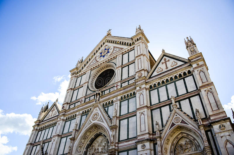 Λεπτομέρειες της εκκλησίας Santa Croce στοκ εικόνα με δικαίωμα ελεύθερης χρήσης