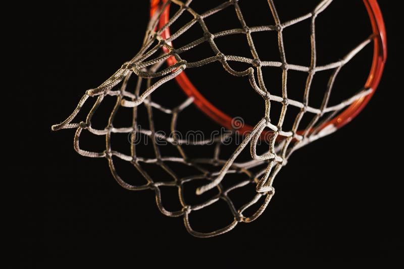 Λεπτομέρειες της στεφάνης καλαθοσφαίρισης στοκ εικόνα