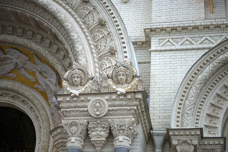 Λεπτομέρειες του εξωτερικού ναυτικού καθεδρικού ναού διακοσμήσεων του Άγιου Βασίλη στοκ εικόνες