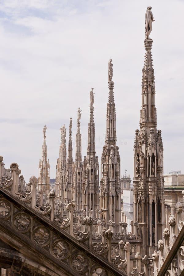 Λεπτομέρειες του καθεδρικού ναού Duomo στο Μιλάνο, Ιταλία στοκ φωτογραφίες με δικαίωμα ελεύθερης χρήσης