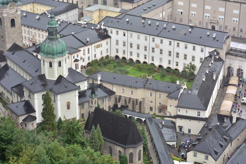 Λεπτομέρειες του Σάλτζμπουργκ από το φρούριο στοκ εικόνα με δικαίωμα ελεύθερης χρήσης