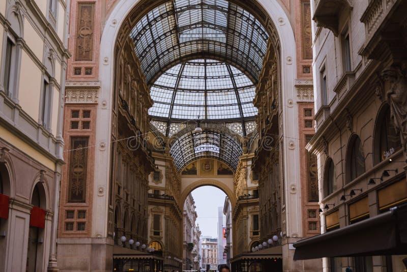 Λεπτομέρειες Amasing μέσα στο Galleria Vittorio Emanuele ΙΙ, μια από τις λεωφόρους παγκόσμιων s παλαιότερες αγορών στην Ευρώπη στοκ φωτογραφίες