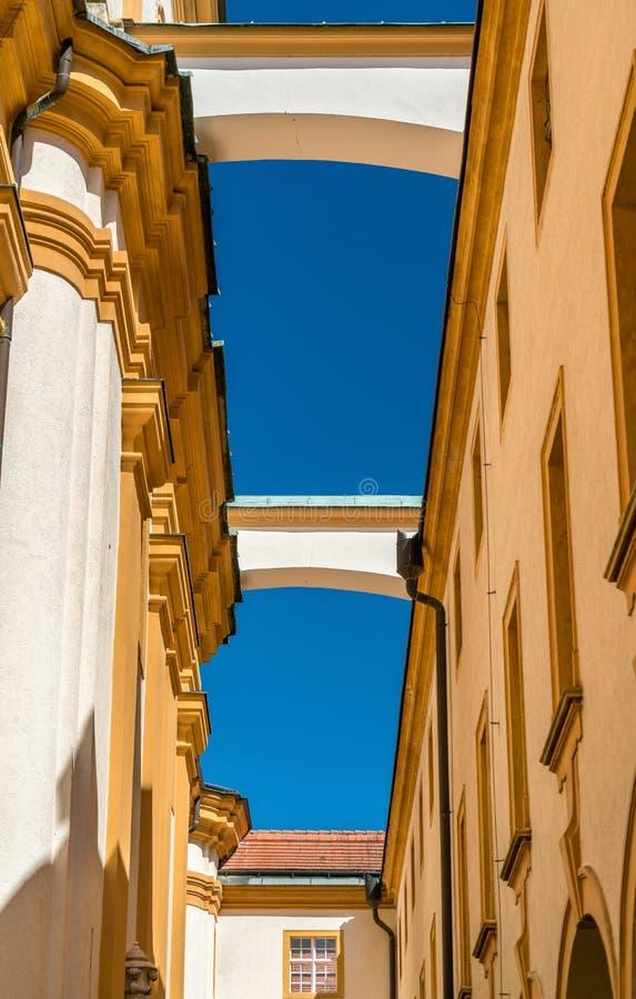 Λεπτομέρειες Stift Melk, ένα Benedictine αβαείο στην πόλη Melk στην Αυστρία στοκ φωτογραφίες