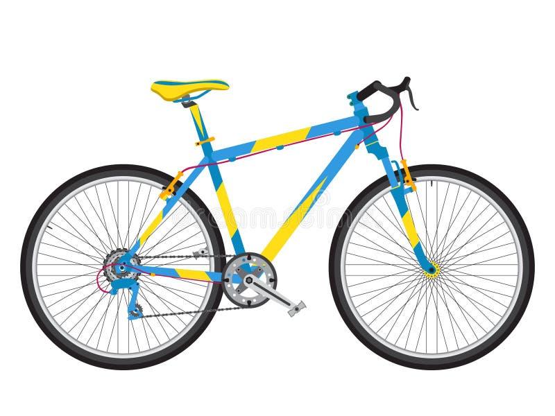 Λεπτομερές αθλητικό ποδήλατο στο καθιερώνον τη μόδα επίπεδο ύφος Περιβαλλοντικά urb ελεύθερη απεικόνιση δικαιώματος