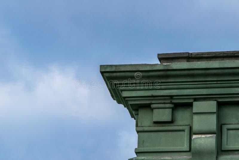 Λεπτομερές αρχιτεκτονικό στοιχείο, από μια στέγη πόλεων της Νέας Υόρκης στοκ εικόνες