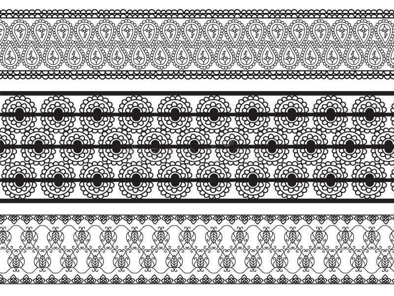 λεπτομερές σύνορα henna απεικόνιση αποθεμάτων