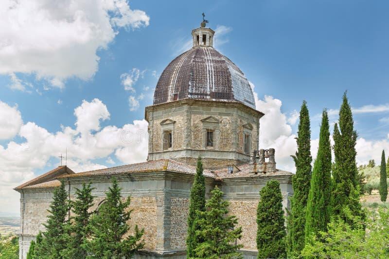 Λεπτομερής άποψη της εκκλησίας της Σάντα Μαρία Nuova σε Cortona, Τοσκάνη, Ιταλία στοκ εικόνα με δικαίωμα ελεύθερης χρήσης