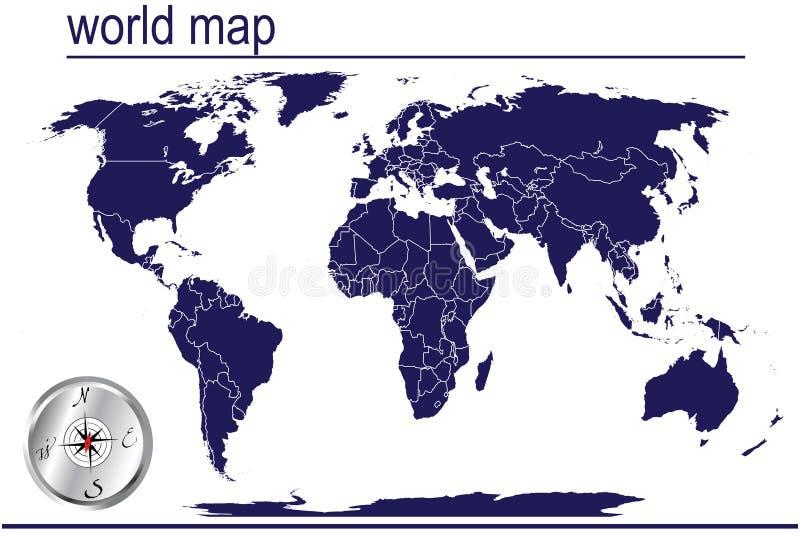 λεπτομερής κόσμος χαρτών απεικόνιση αποθεμάτων