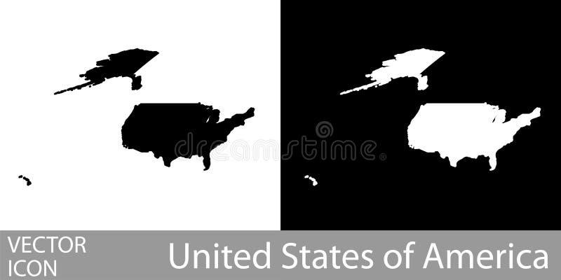 Λεπτομερής οι ΗΠΑ χάρτης διανυσματική απεικόνιση