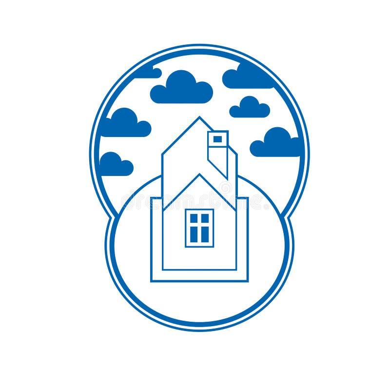 Λεπτομερής σπίτι διανυσματική απεικόνιση, του χωριού ιδέα Γραφικό countr ελεύθερη απεικόνιση δικαιώματος