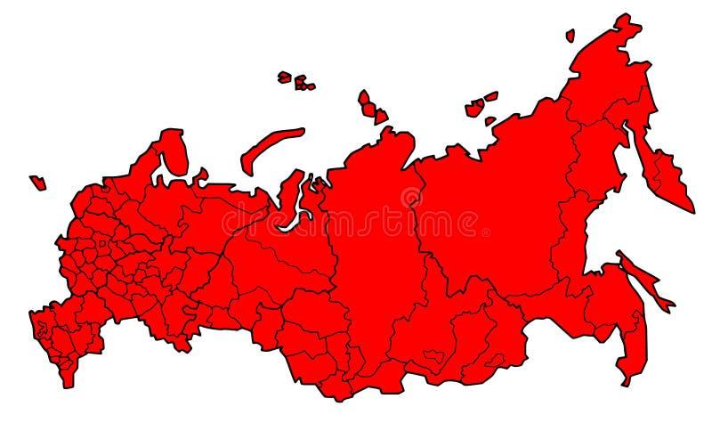 λεπτομερής χάρτης κόκκινη απεικόνιση αποθεμάτων