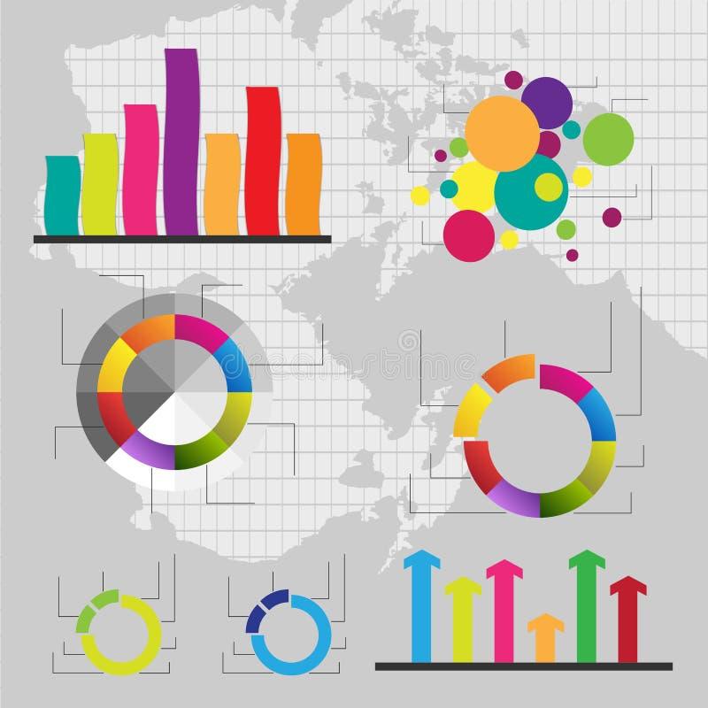 Λεπτομερή στοιχεία της πληροφορία-γραφικής παράστασης με τις ετικέττες απεικόνιση αποθεμάτων