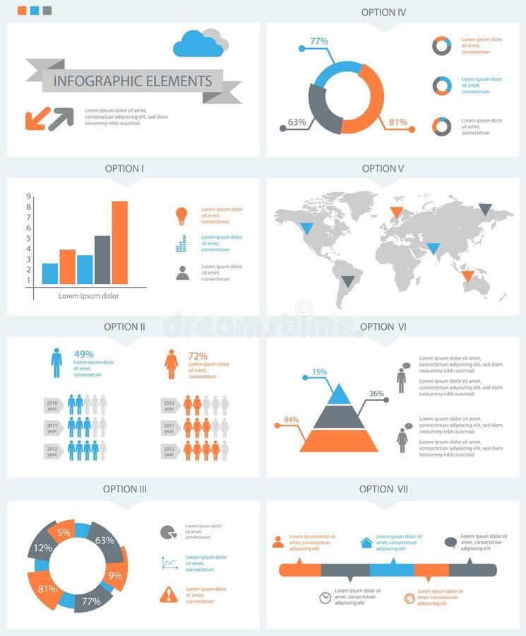 Λεπτομερή infographic στοιχεία που τίθενται με τη γραφική παράσταση παγκόσμιων χαρτών και το CH ελεύθερη απεικόνιση δικαιώματος