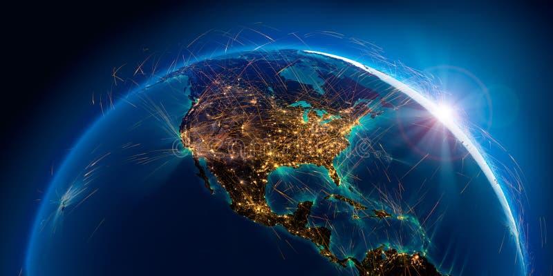 Λεπτομερείς διαδρομές αέρα στη γη r απεικόνιση αποθεμάτων