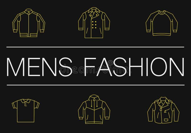Λεπτό έμβλημα γραμμών μόδας ατόμων στο Μαύρο απεικόνιση αποθεμάτων