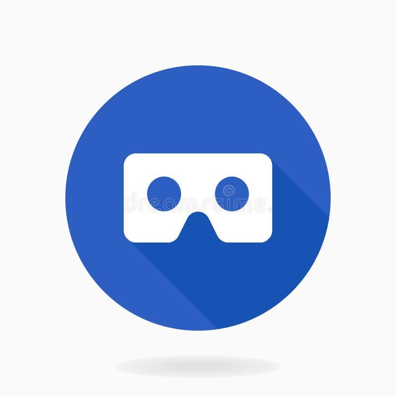 Λεπτό διανυσματικό επίπεδο εικονίδιο με το λογότυπο VR διανυσματική απεικόνιση