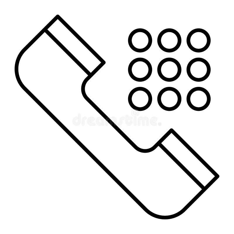 Λεπτό εικονίδιο γραμμών αριθμού πρόσκλησης Τηλεφωνική απεικόνιση που απομονώνεται διανυσματική στο λευκό Σχέδιο ύφους περιλήψεων  ελεύθερη απεικόνιση δικαιώματος