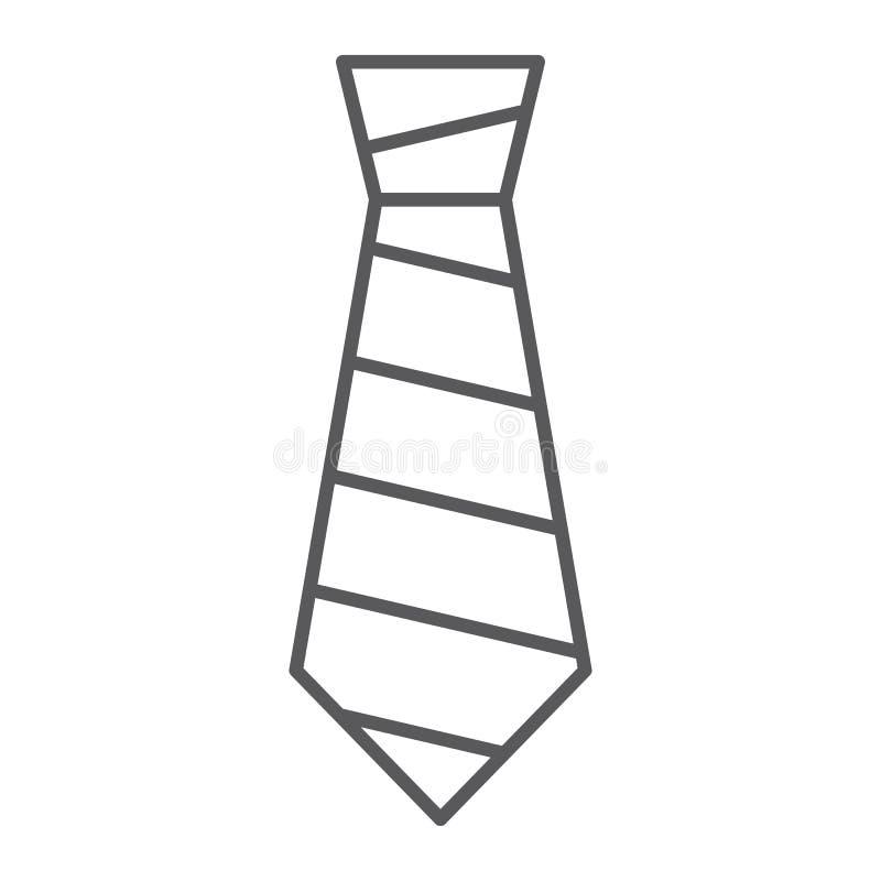 Λεπτό εικονίδιο γραμμών δεσμών, ιματισμός και επίσημος, σημάδι γραβατών, διανυσματική γραφική παράσταση, ένα γραμμικό σχέδιο σε έ απεικόνιση αποθεμάτων