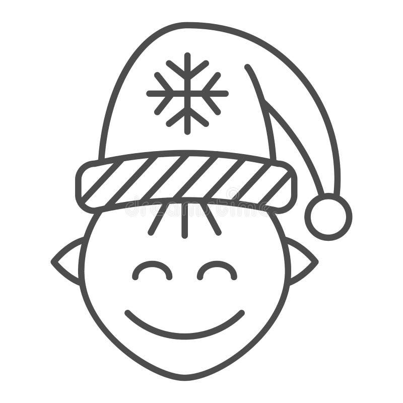Λεπτό εικονίδιο γραμμών νεραιδών Santas Χριστουγέννων νεραιδών απεικόνιση που απομονώνεται διανυσματική στο λευκό Σχέδιο ύφους πε ελεύθερη απεικόνιση δικαιώματος