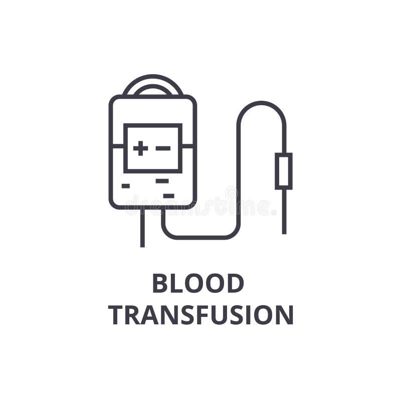 Λεπτό εικονίδιο γραμμών συστημάτων μετάγγισης αίματος, σημάδι, σύμβολο, illustation, γραμμική έννοια, διάνυσμα απεικόνιση αποθεμάτων