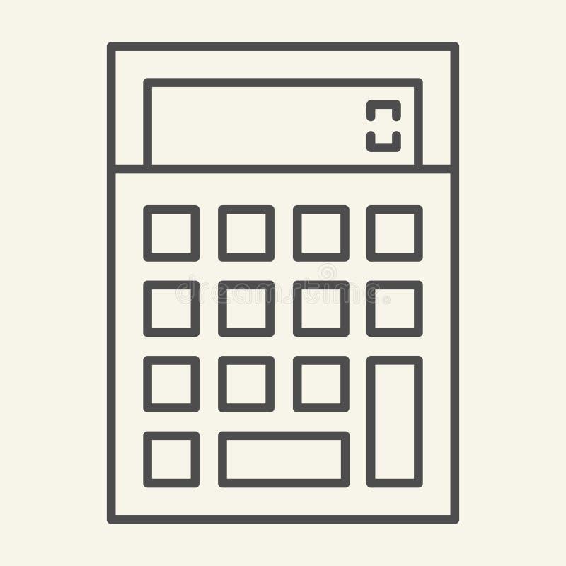 Λεπτό εικονίδιο γραμμών υπολογιστών Λογιστικής απεικόνιση που απομονώνεται διανυσματική στο λευκό Υπολογίστε το σχέδιο ύφους περι απεικόνιση αποθεμάτων