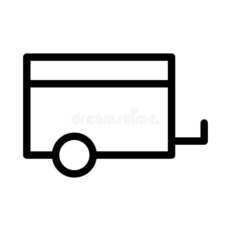 Λεπτό εικονίδιο γραμμών φορτίου διανυσματική απεικόνιση