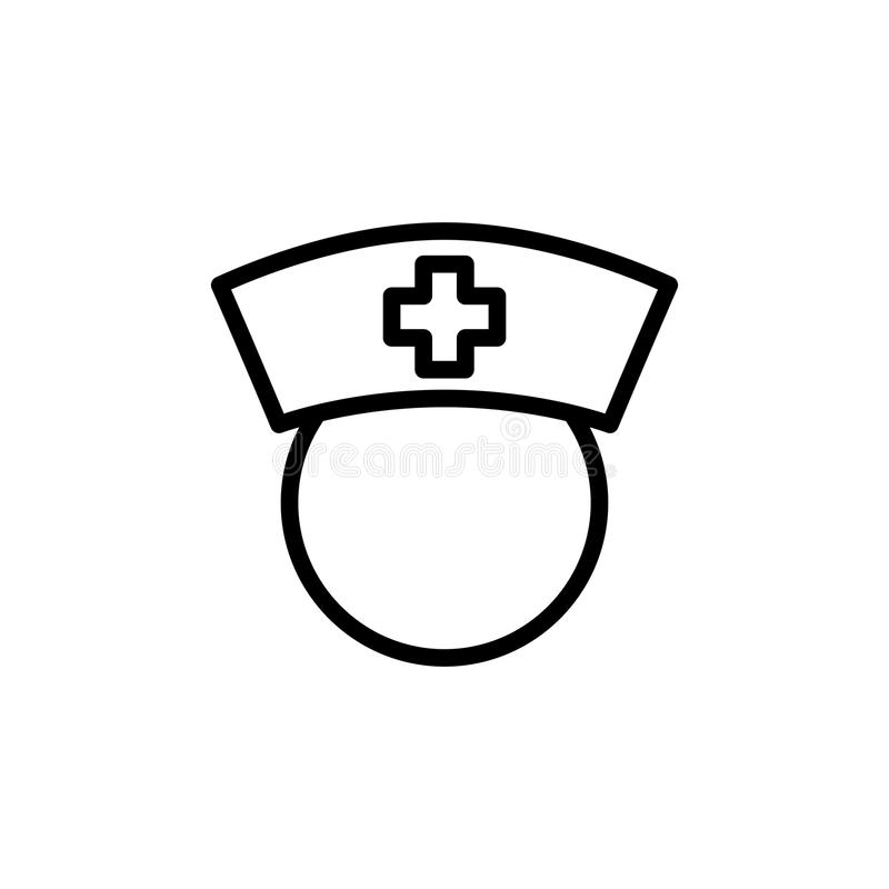 Λεπτό εικονίδιο νοσοκόμων γραμμών στοκ εικόνες