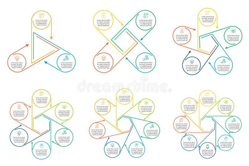 Λεπτό επίπεδο στοιχείο γραμμών για infographic διανυσματική απεικόνιση