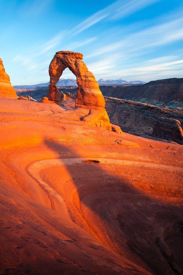 Λεπτό ηλιοβασίλεμα αψίδων στοκ φωτογραφία με δικαίωμα ελεύθερης χρήσης