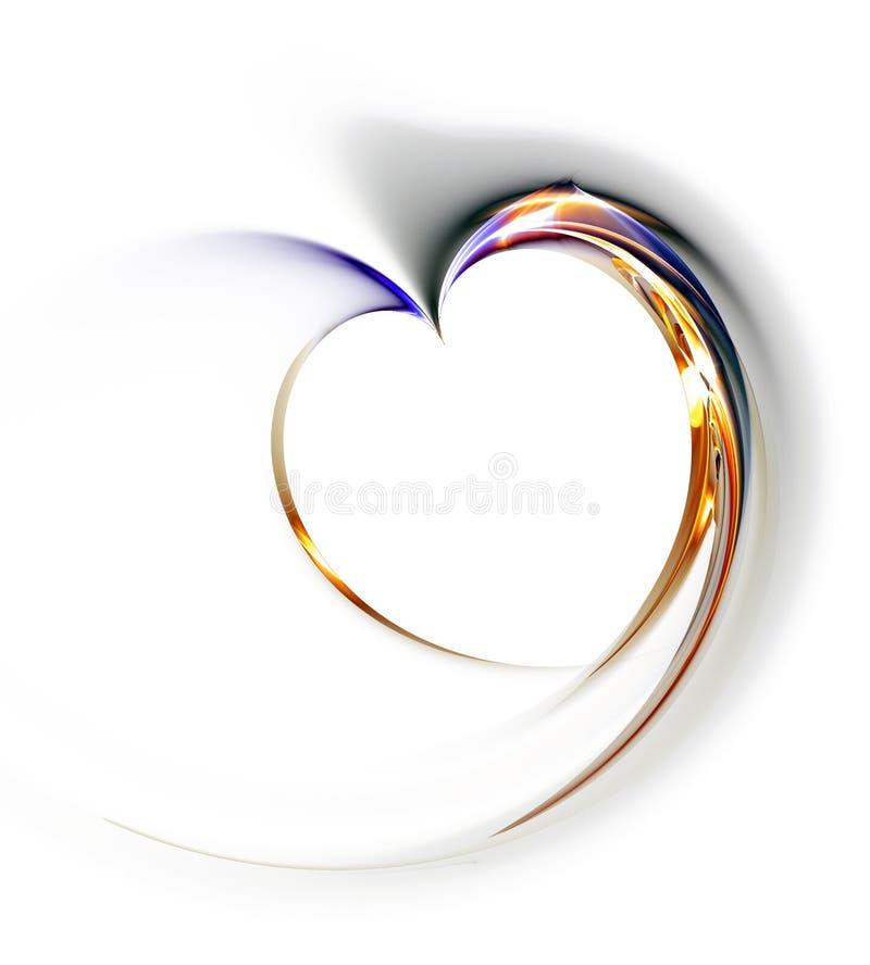 λεπτό λευκό καρδιών ανασ&kap απεικόνιση αποθεμάτων