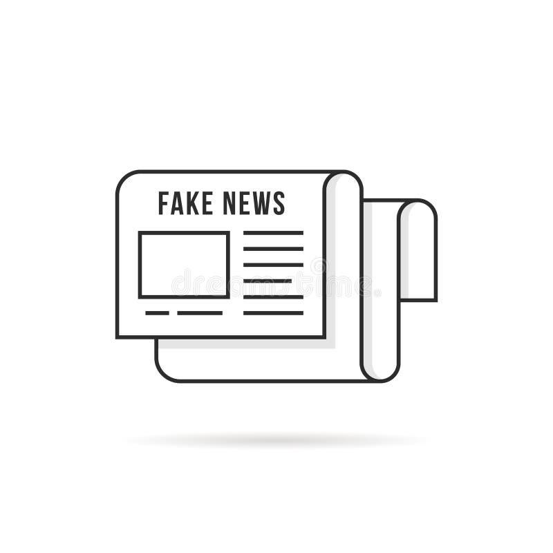 Λεπτό λογότυπο ειδήσεων γραμμών πλαστό όπως την εφημερίδα απεικόνιση αποθεμάτων