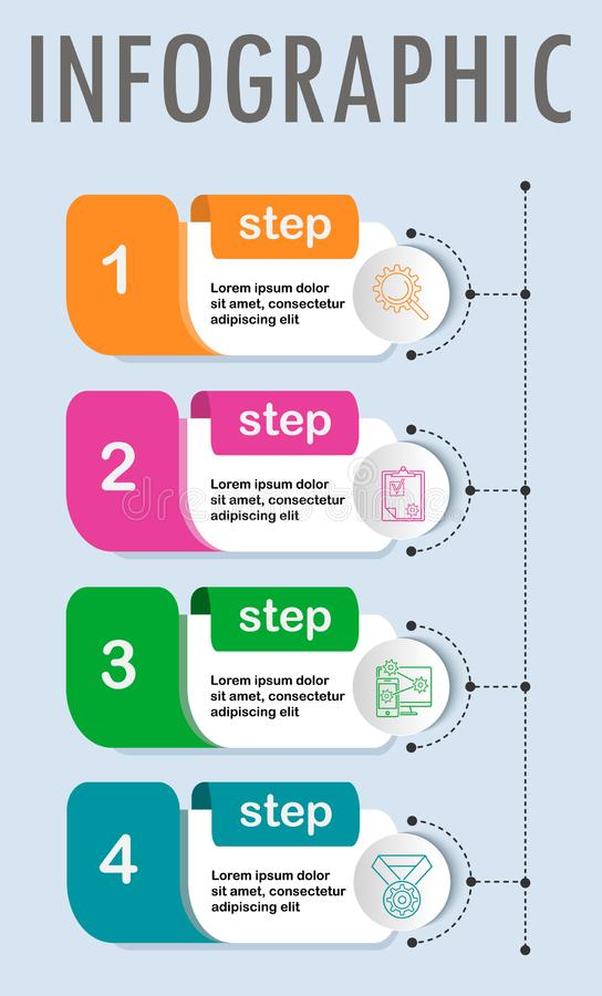 Λεπτό πρότυπο σχεδίου Infographic γραμμών ελάχιστο ελεύθερη απεικόνιση δικαιώματος