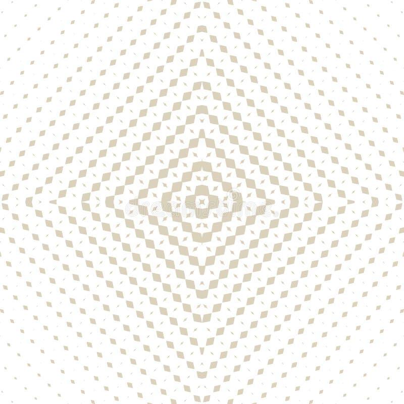 Λεπτό χρυσό διανυσματικό ημίτονο άνευ ραφής σχέδιο Ακτινωτή κλίση με το τετραγωνικό πλέγμα διανυσματική απεικόνιση