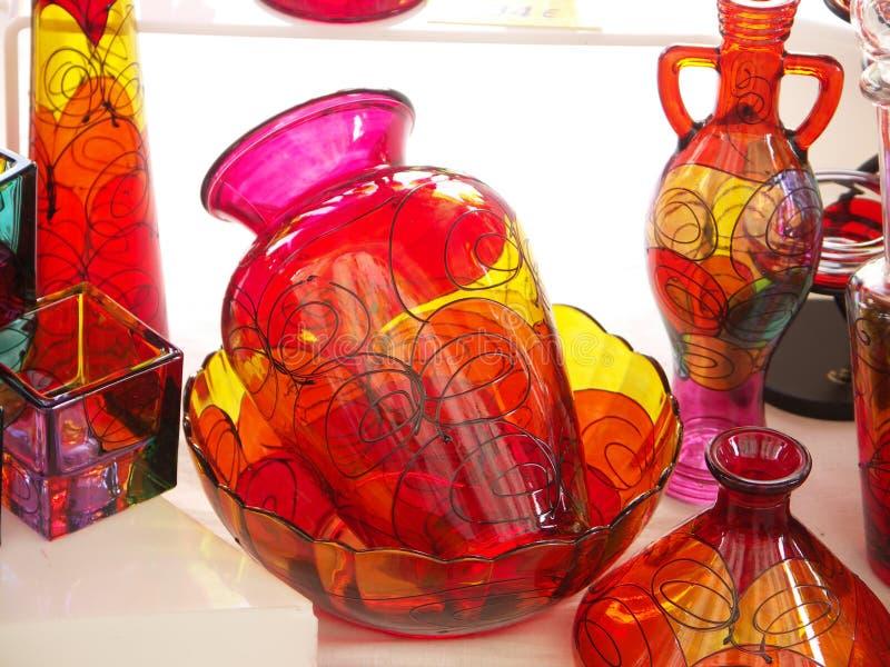 λεπτό vase γυαλιού τέχνης στοκ φωτογραφίες