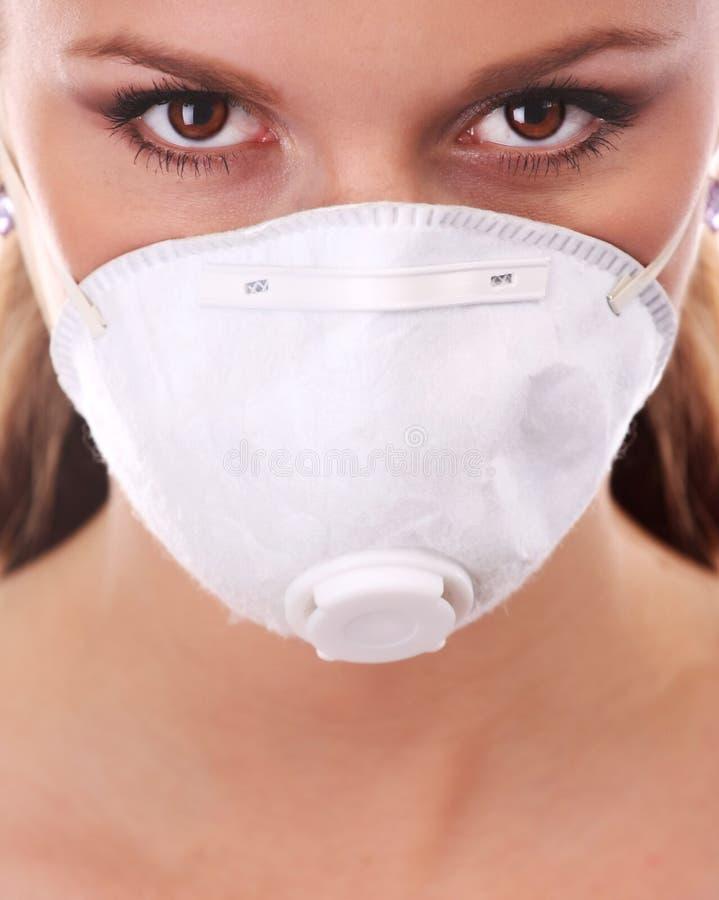 λευκή γυναίκα αναπνευσ& στοκ εικόνα με δικαίωμα ελεύθερης χρήσης